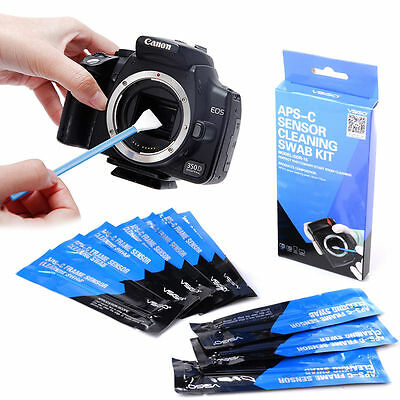 Professional APS-C 10 Sensor Cleaning Swab Kit For Digital SLR Camera DC580