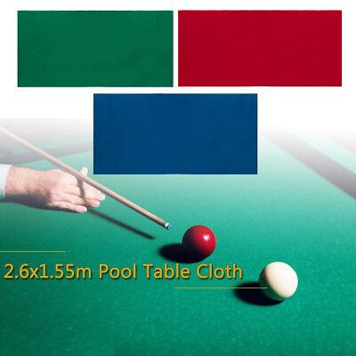 8ft Snooker Billiard Tischtuch Tischdecke Pooltuch Billardtisch Tuch 2.6x1.55m