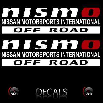 (2) NISMO OFF ROAD Decals Stickers White and Red Nissan Frontier 4X4 truck bed