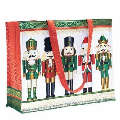 Christmas Totes (Michel Design Works Cotton Tote Bag 17x14x6 Christmas Nutcracker)