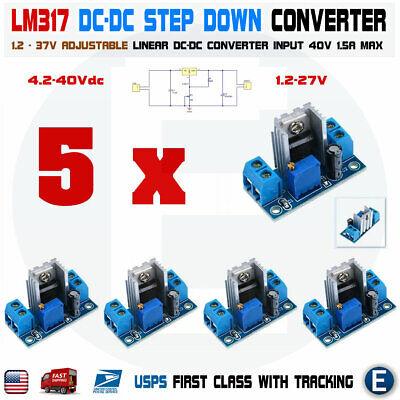 5pcs Lm317 Dc-dc Converter Adjustable Linear Regulator Step Down Circuit Board