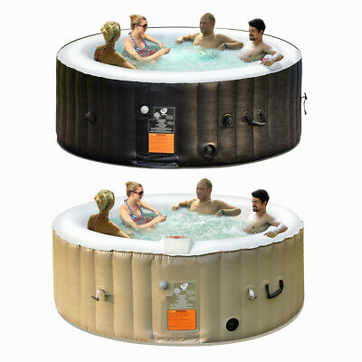 Inflatable Lazy Spa Bubble Massage Spa Portable Pool Hot Tub Outdoor 4 People