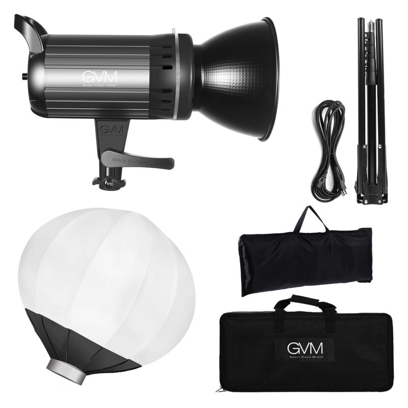 GVM G100W Bi-Color Photography Lighting with Bowens Mount, APP Control System