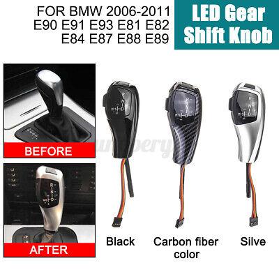 Chrome Black LHD Automatic LED Gear Shift Knob for E90 E91 E93 E81 E82 E84 E87 E88 E89 Gear Shift Knob