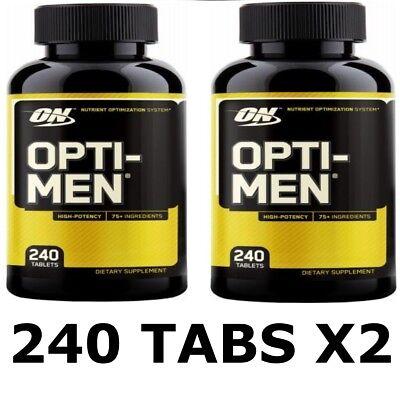 Optimum Nutrition OPTI-MEN x2 240 (480 CAPS) VALUE PACK Optimen Multi Vitamin for sale  Shipping to United States