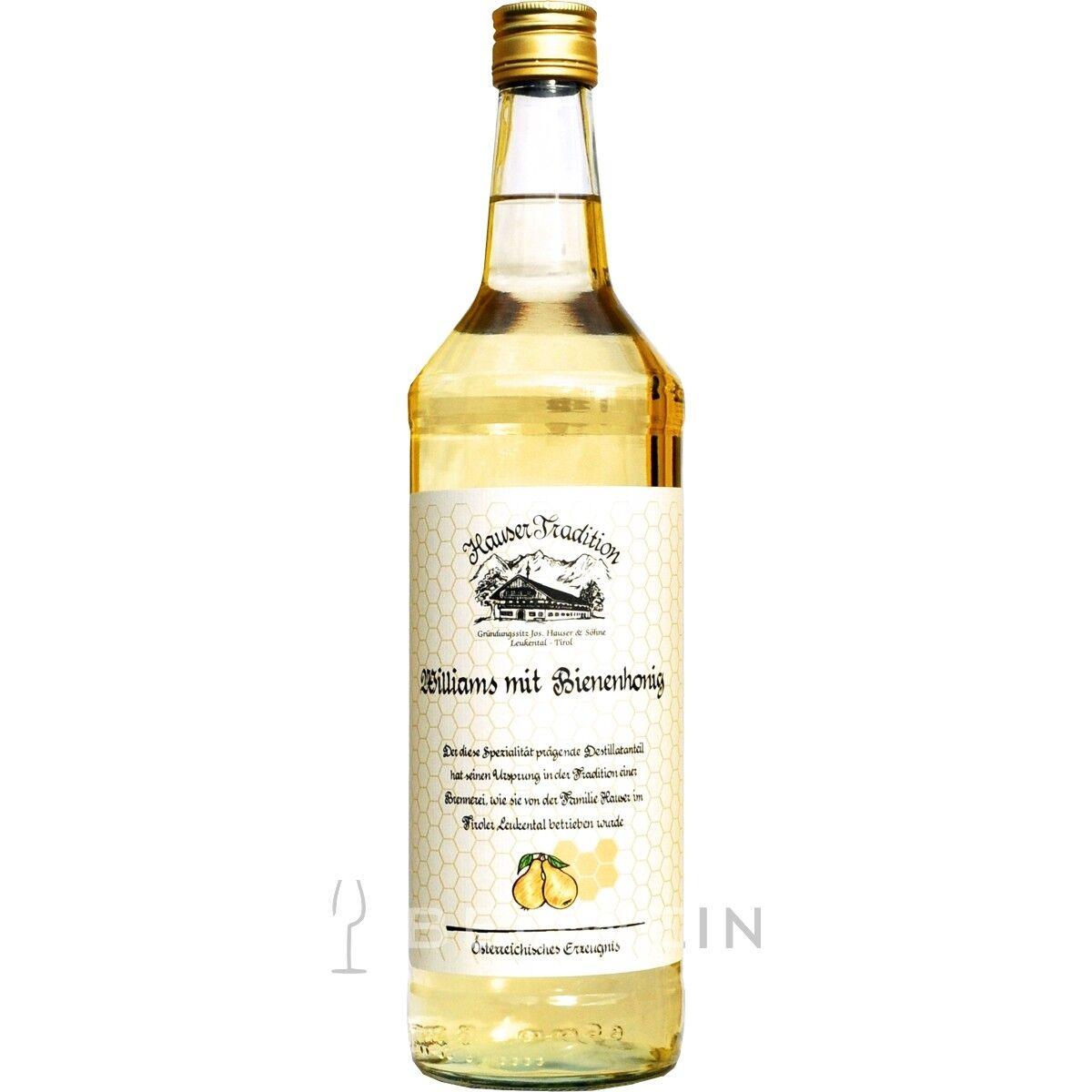 Hauser Tradition Williams mit Bienenhonig 1,0 l Obstler Williamsbirne Honig