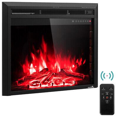 30'' 750W-1500W Fireplace Electric Embedded Insert Heater Gl