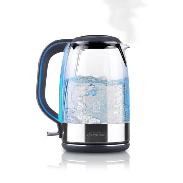 NEW Sunbeam KE9500 Cool Blue Glass Kettle