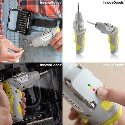 Destornillador atornillador eléctrico inalámbrico recargable multiposicion 33pcs