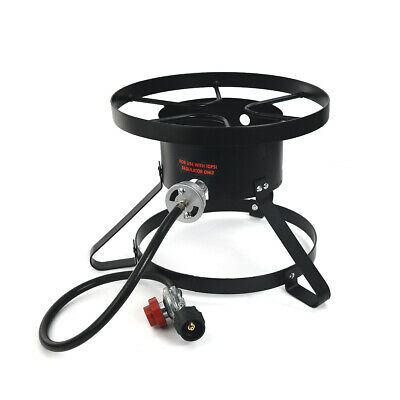 High Pressure Burner Outdoors Cooking Gas Single Propane Stove Hose & Regulator