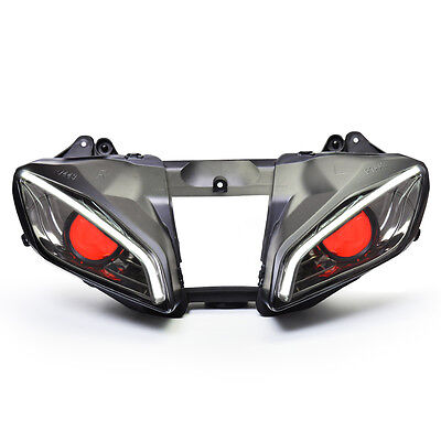 LED Angel Eye Headlight Assembly for Yamaha YZF R6 2008-2016 V2