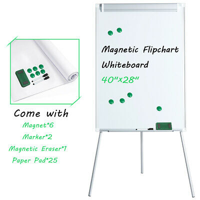 40x 28 White Board Tripod Easel Magnetic Flipchart Dry Erase Height Adjustable
