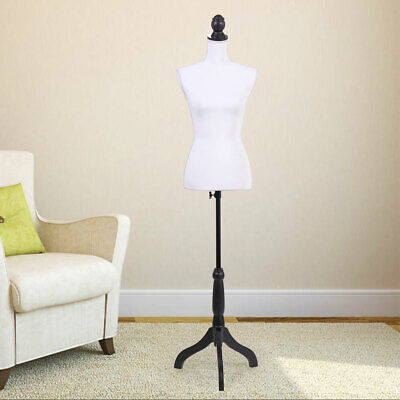 Female Mannequin Torso Display Dress Clothing Form Wblack Tripod Stand New