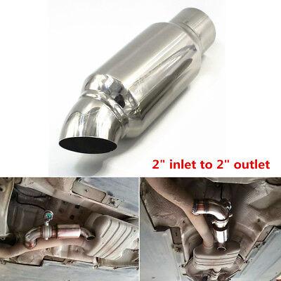 Car Exhaust Pipe Muffler Tip Resonator Anti Break Sound Stainless Steel Silencer