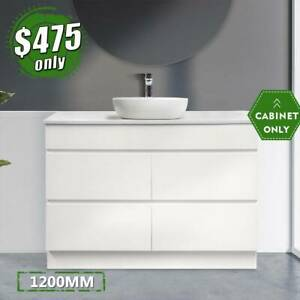 Single Freestanding Cabinet 1200mm Bathroom Vanity MIA *LAST ONE*