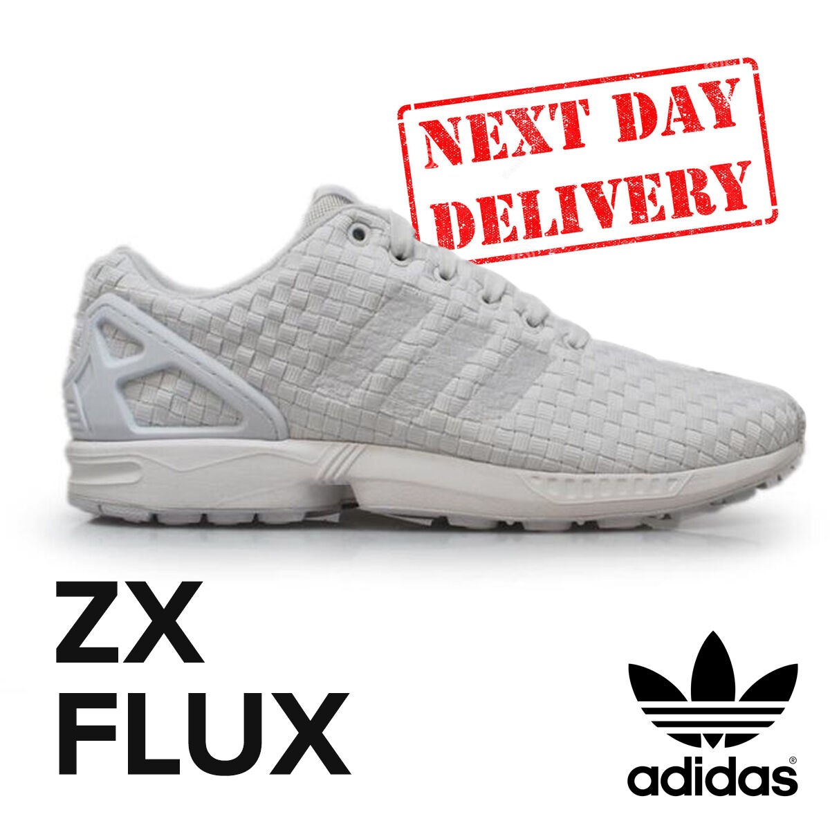 fadea065f Details about Adidas ZX Flux Woven Retro White Trainers Mens Classic Retro  Sneakers