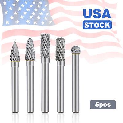 "Grobet USA Carbide Burr Bur Single Cut 1//4/"" Shank 5//16/"" SL-2 Radius Taper Cone"