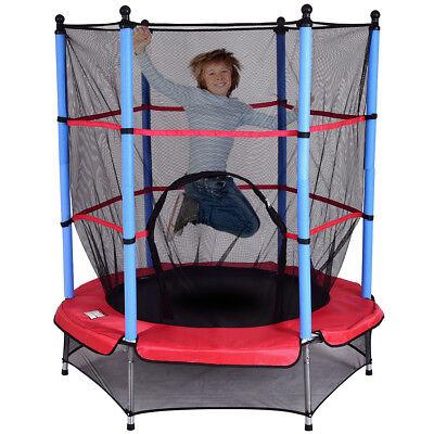 Kinder Trampolin Kindertrampolin Gartentrampolin Komplettset Netz 140cm Outdoor