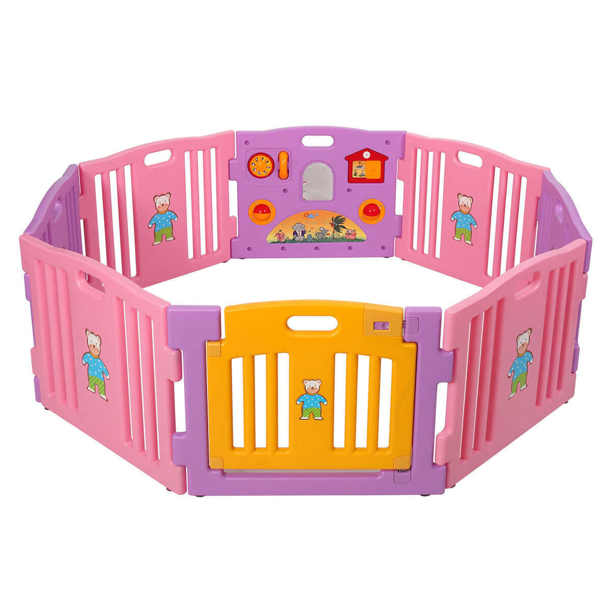 Baby Playpen 8 Panel Kids Safety Play Center Yard Home Indoor ...