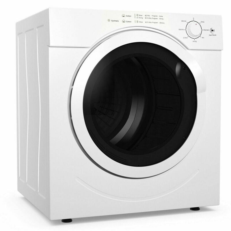 27lbs Electric Tumble Compact Laundry Dryer Stainless Steel 3.0 Cu. Ft.