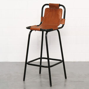 DINING CAFE BAR STOOL STYLE CHAIR KITCHEN OUTDOOR RETRO VINTAGE INDUSTRIAL BLACK
