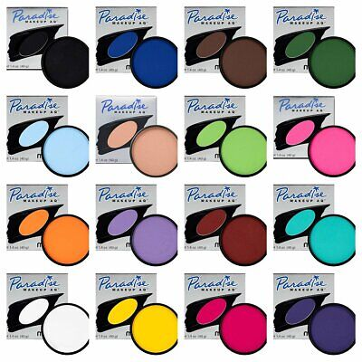 Mehron Paradise AQ Face Body Paint ALL Colors Cake Makeup Stage FX Full Size 40G ()