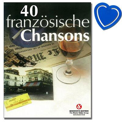 40 französische Chansons - Songbook - Bosworth - BOE2506 - 9783865439192