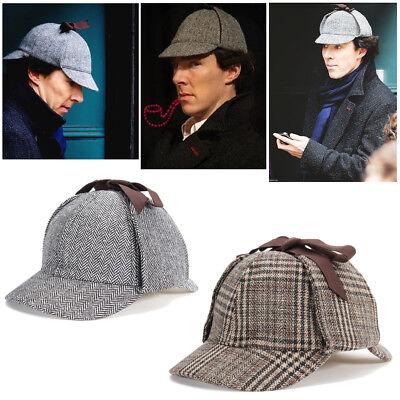 Men Women Sherlock Holmes Cosplay Deerstalker Detective Hat Cosplay Hunting (Sherlock Hat)