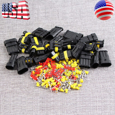 15kits 2 34 Pin Way Car Super Seal Waterproof Electrical Wire Connector Plug