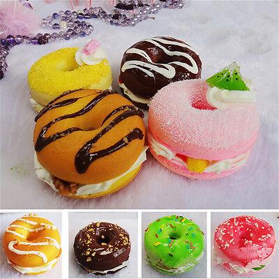 1pc 6x4cm Donut Bread Fake Food Toy Bakery Display Props Decor Gift Random