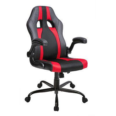 Merax Pu Leather Mesh Office Gaming Chair Racing Style Ergonomic Computer Desk