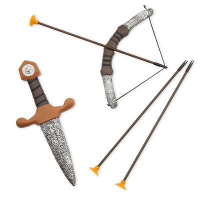 NWT Disney Store Peter Pan Bow & Arrow w/ Dagger 5pc Toy Accessory Set - Peter Pan Accessories