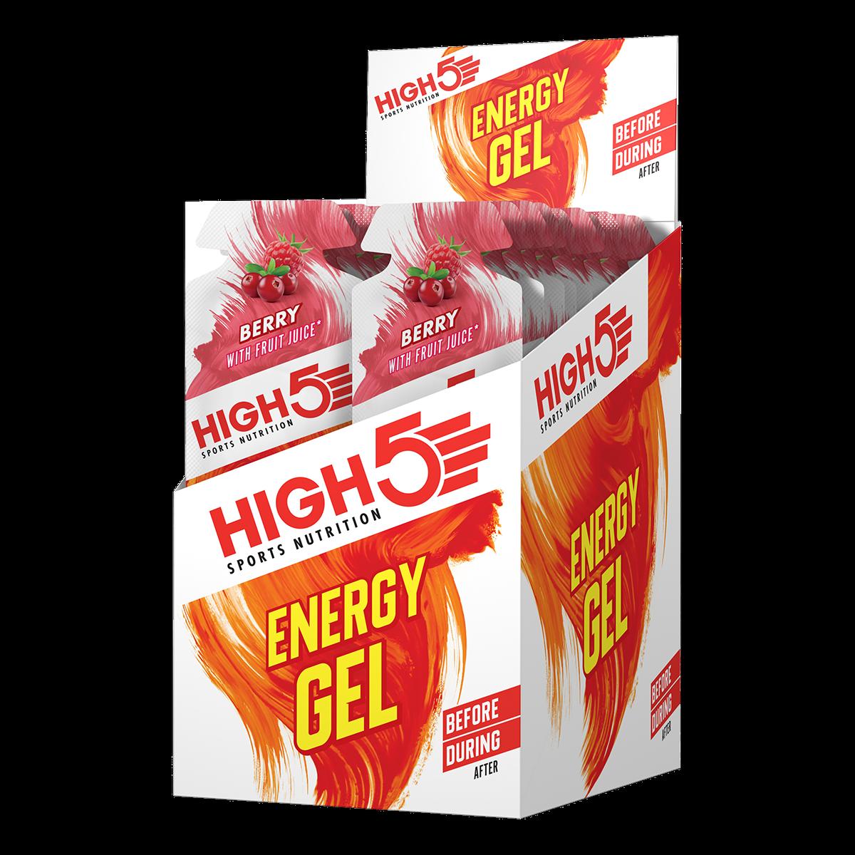 High5 Energy Gels (box of 20) Great Tasting Energy Gels - SAVE 25%