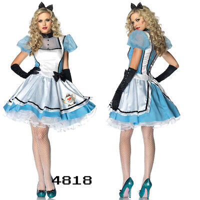 ADULT LADIES HALLOWEEN ALICE IN WONDERLAND BOOK DAY FANCY DRESS COSTUME OUTFIT