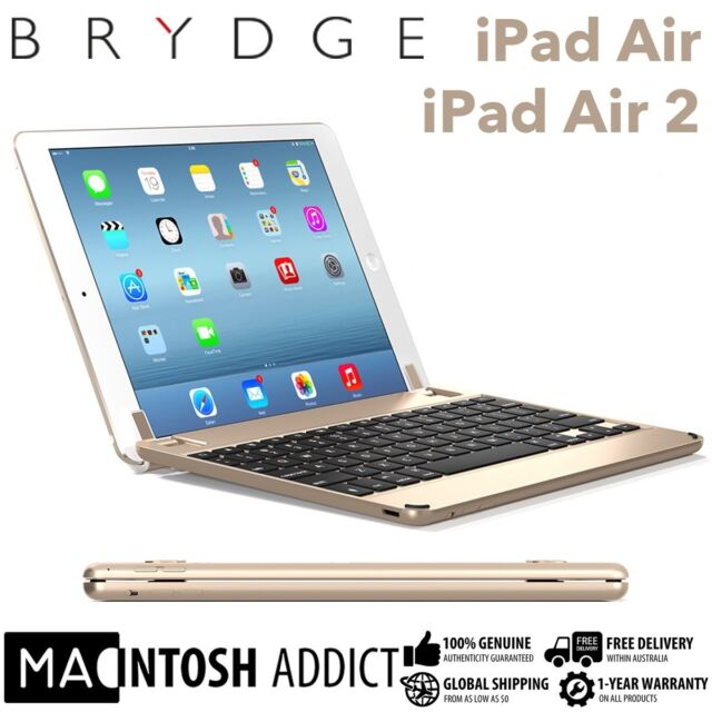 """Brydge Brydge9.7 Aluminium Keyboard Cover Case For iPad Air/Air 2/ Pro 9.7"""" GOLD"""