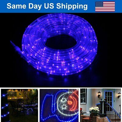 20/30/40/50FT LED Rope Strip Light Christmas Lighting Indoor Outdoor Décor -