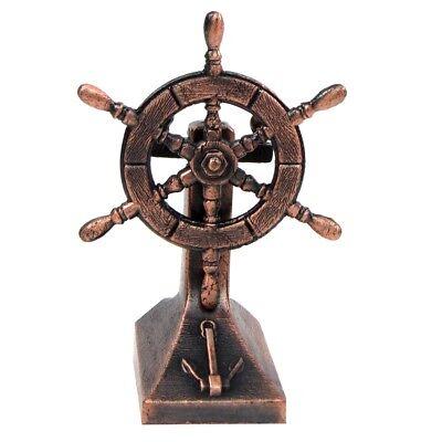 Bronze Metal Ships Helm Ship Wheel Miniature Replica Die Cast Pencil Sharpener](Ships Helm)