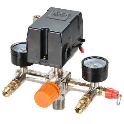 Secbolt Pressure Switch Manifold Regulator Gauges Air Compre