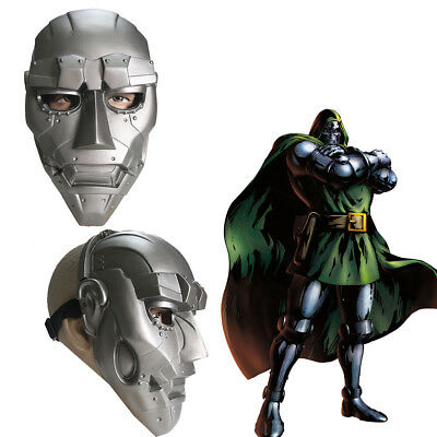 Dr Doom Mask Cosplay Helmet Costume Props Fantastic Four Adult Halloween Party