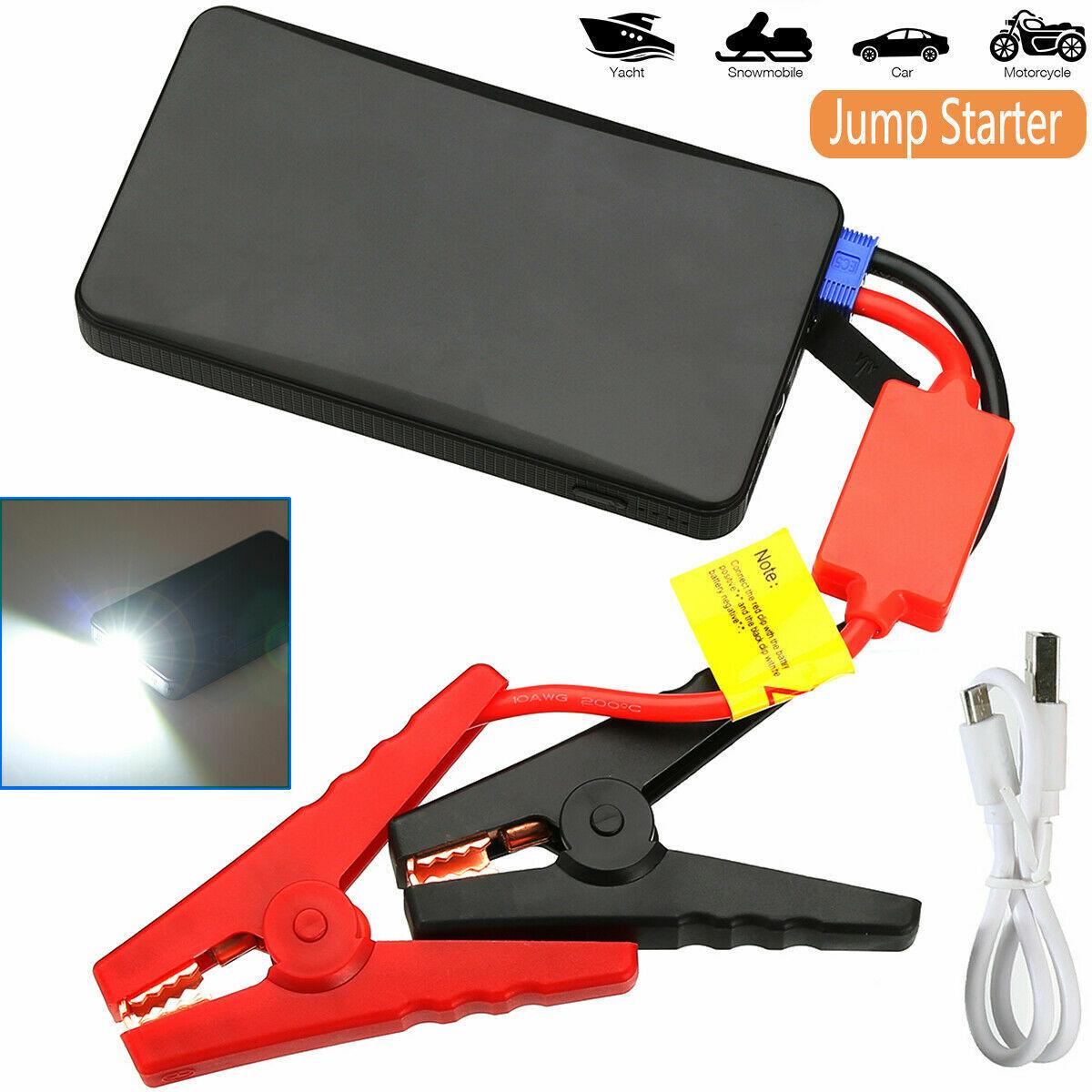 Portable Mini Slim 20000mAh Car Jump Starter Engine Battery Charger Power Bank Automotive Tools & Supplies