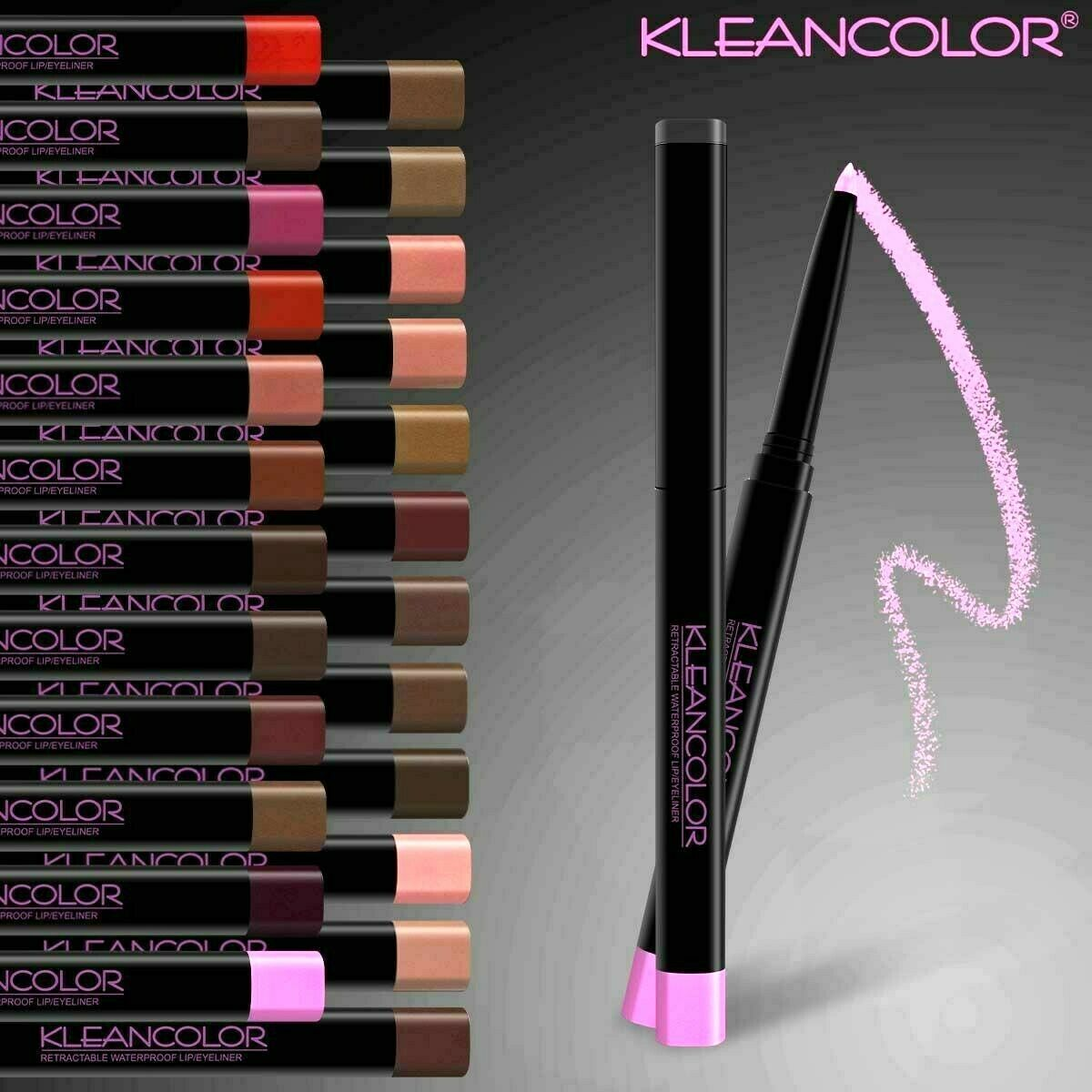 Kleancolor Retractable Lip Liner Waterproof Pick From 26 Col