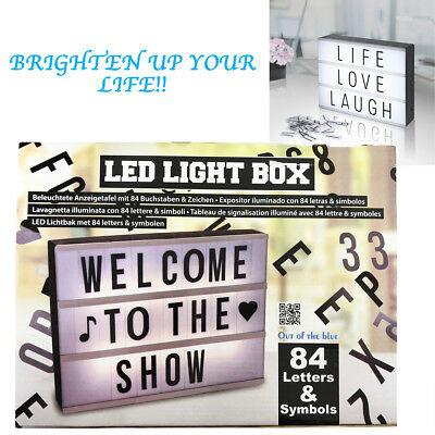 A4 LED Light Box Own Message Cinematic Board Letter 84 Sign
