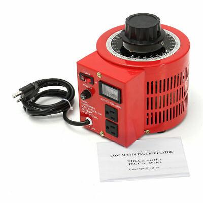 Variac 20amp 110v - Variable Ac Power Transformer Regulator 0-130v 20a Metered