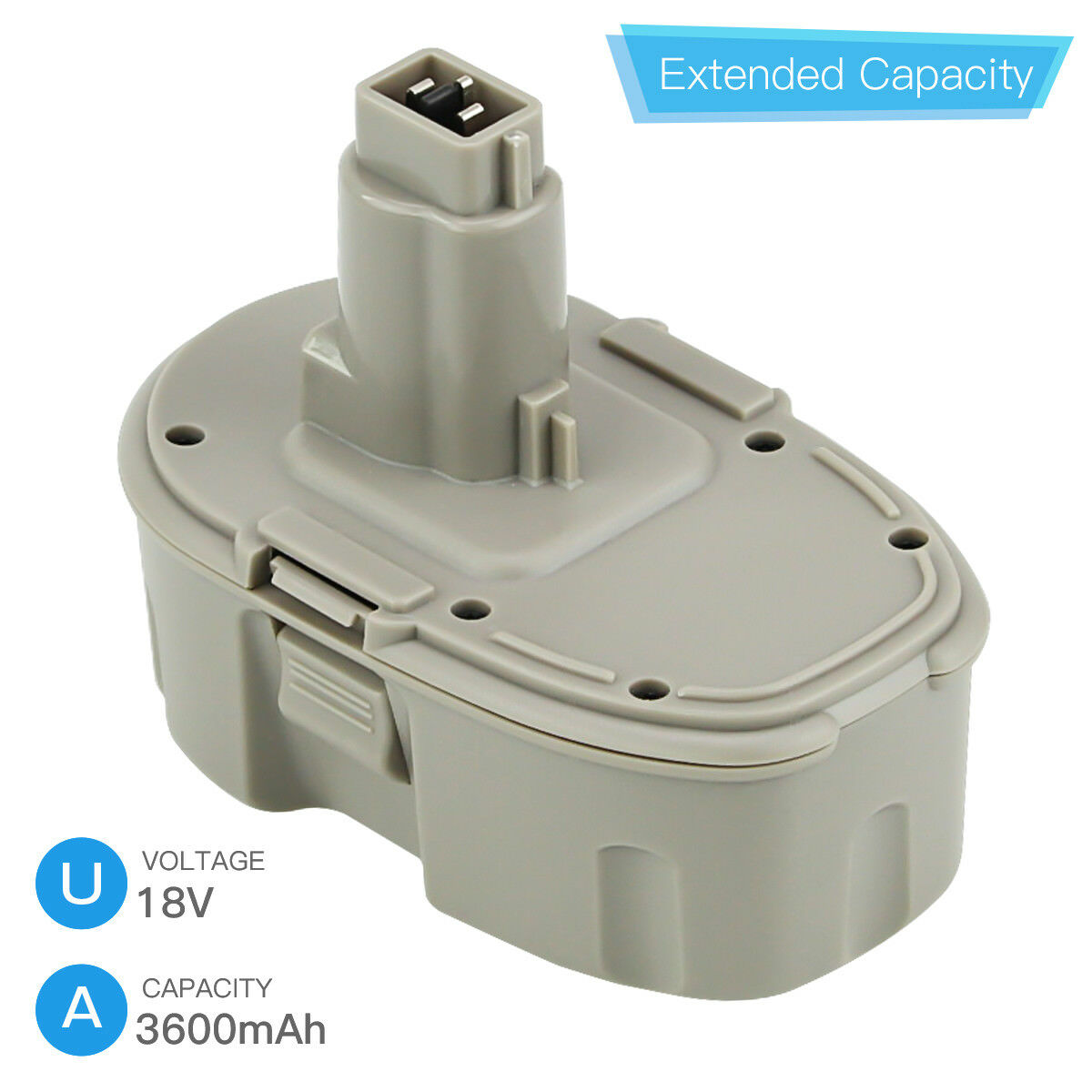 New Upgraded 3.6Ah DC9096 Replace for Dewalt 18V XRP Battery