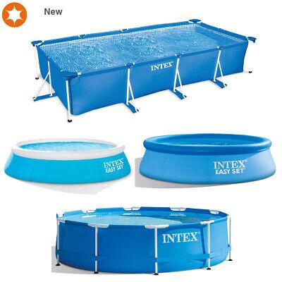 305 x 76 cm AK Sports 28202GN Intex 10ft x 30in Metal Frame Swimming Pool Blue