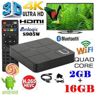 Smart Android 7.1 TV BOX 2GB +16GB KD18.0 Quad Core WIFI Bluetooth Media Player