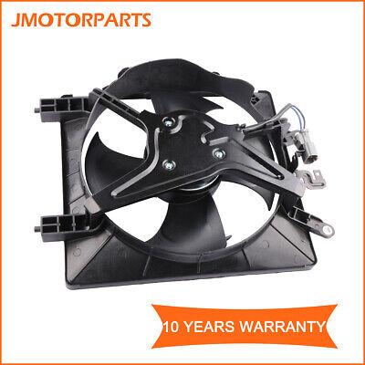 Passenger Side AC Radiator Cooling Fan Assembly For 01-05 Honda Civic 1.7L 2.0L
