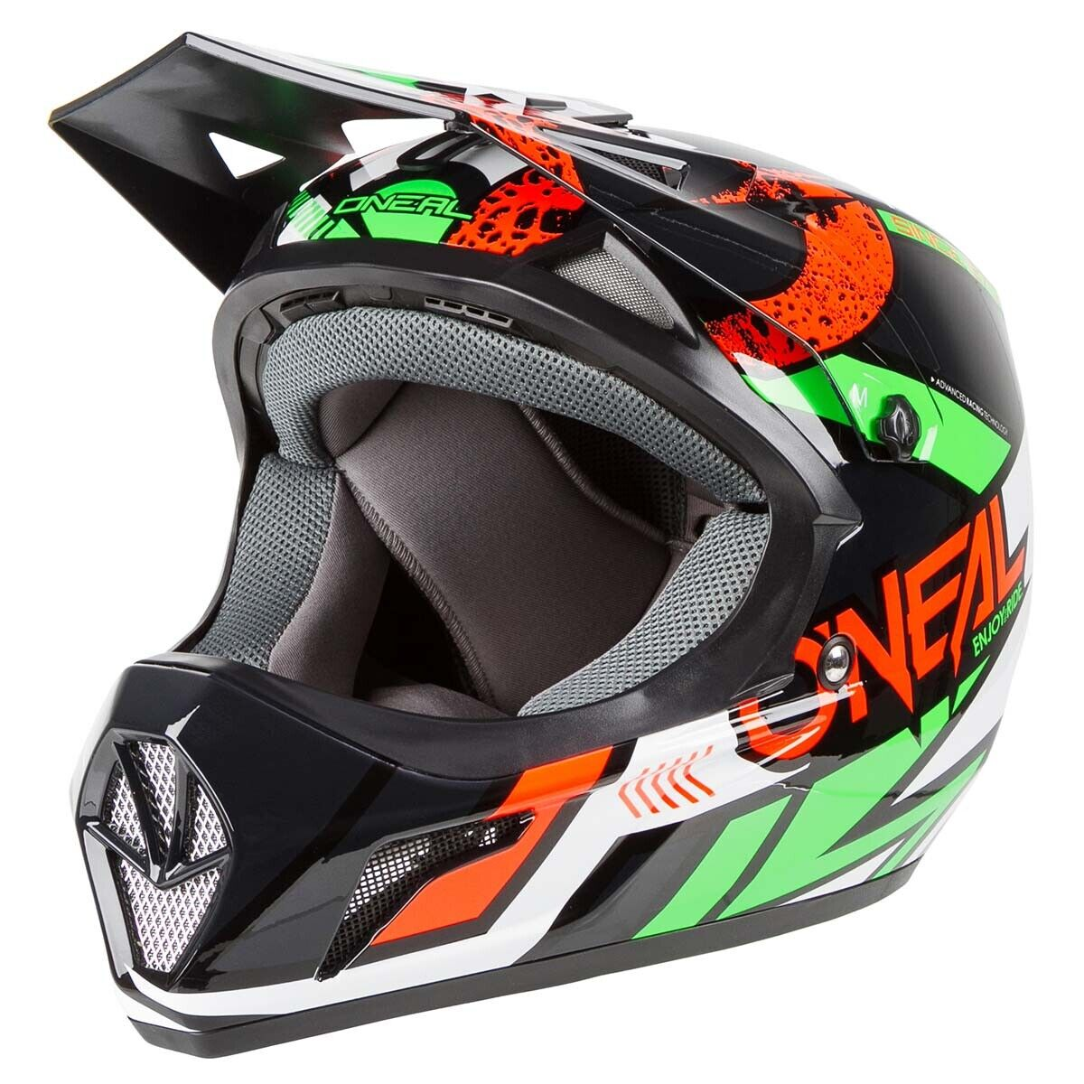 O`Neal Sonus Strike  Fullface Helm Downhill FR Dirt  rot grün ONEAL Gr. S