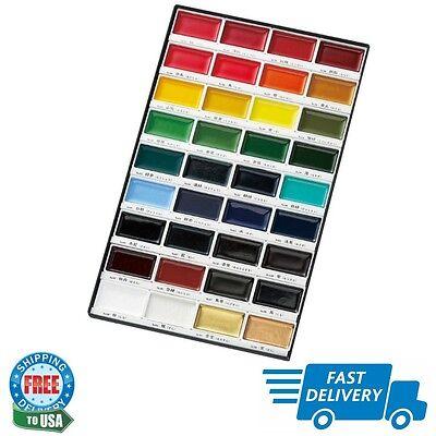 Kuretake Gansai Tambi Water Colors Paint 36-Color Set Art Supplies WaterColor