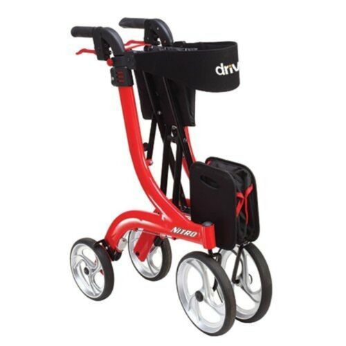 Drive Medical RTL10266 Nitro Euro Style Red Rollator Walker, Red